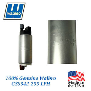 New Walbro High Performance 255 Lph Fuel Pump Will Fit Suzuki Gss342
