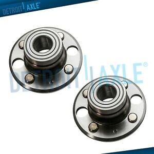 Set 2 Rear Complete Wheel Hub And Bearing For Honda Civic Del Sol Disc Brakes
