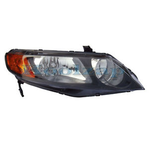 Tyc 06 08 Civic Sedan Headlight Headlamp Front Head Light Right Passenger Side