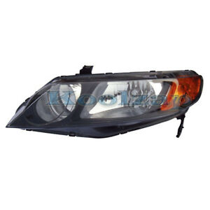 Tyc 06 08 Civic Sedan 4dr Headlight Headlamp Front Head Light Left Driver Side