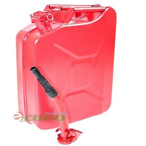 5 Gallon Jerry Can Gas Fuel Steel Tank Red Military Style 20l Storage Can 5g