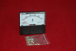 Dc 1a Analog Ammeter Panel Amp Current Meter Dc 0 1a 60 70mm Directly Connect