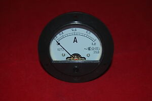 Ac 0 1a Round Analog Ammeter Panel Amp Current Meter Dia 90mm Direct Connect