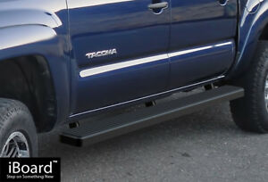 Iboard Running Boards 4 inch Black Fit 05 20 Toyota Tacoma Double Cab Crew Cab