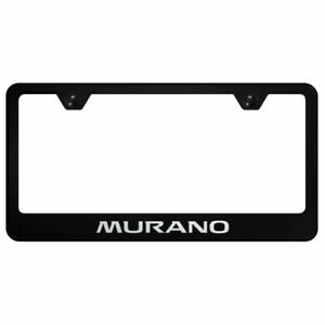 Nissan Murano Black Stainless Steel License Plate Frame Lf mur eb