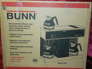 Bunn Vps Pour Over 04275 0031 12 Cup Coffee coffee Brewer Vpr