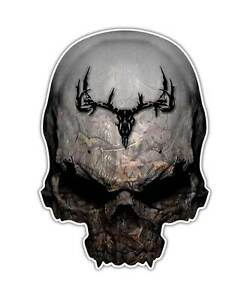 Camo Skull Decal Twisted Timber Deer Hunting Sticker Camouflage Graphic