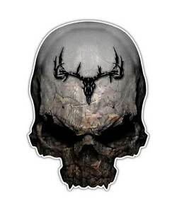 2 Camo Skull Decal Twisted Timber Deer Hunting Sticker Small Graphics