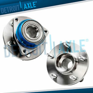 Set Of 2 New Front Driver And Passenger Wheel Hub And Bearing Assemb