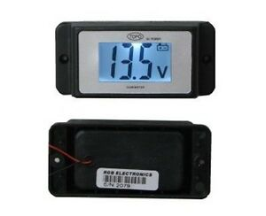 12v Dc Lcd Voltmeter With Alarm For Marine boating 4wd rv motorcycle automobile