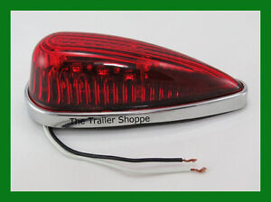 Cab Roof Clearance Marker Teardrop Red Led Lights Ford Chevy Dodge Pick Up