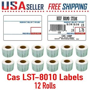 Cas Lst 8010 Printing Scale Label 58 X 40 Mm Upc 12 Rolls Per Case 8010