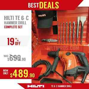 Hilti Te 6 c Hammer Drill New Made In Europe Free Bits Chisels Fast Ship