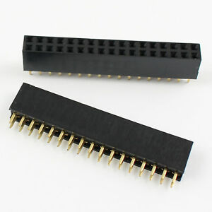 100pcs 2 54mm 2x17 Pin 34 Pin Female Pcb Double Row Straight Header Strip