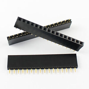 500 Pcs 2 54mm Pitch 16 Pin Female Single Row Straight Header Strip Ph 8 5mm