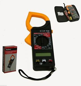 Truepower Clamp On Multimeter Tester Lcd Digital Meter Tool Ac Dc