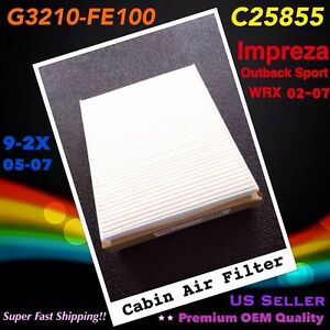 For Impreza Outback Sport Wrx 02 07 9 2x 05 07 Cabin Air Filter C25855