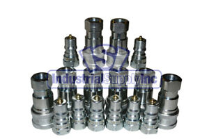 8 Sets Of 1 4 Iso 7241 1 B Hydraulic Quick Disconnect Couplers