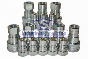 8 Sets Of 1 2 Iso 7241 1 B Hydraulic Quick Disconnect Couplers