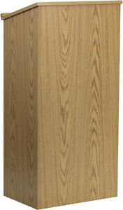 Flash Furniture Oak Stand up Lectern