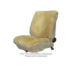 Deluxe Plush Universal Low Back Bucket Seat Covers Sheepskin Dk grey Color Pair