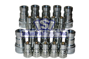 10 Sets Of 3 8 Iso 7241 1 B Hydraulic Quick Disconnect Couplers