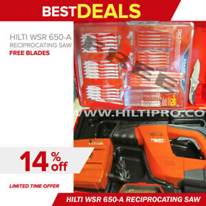 Hilti Wsr 650 a Reciprocating Saw Excellent Condition free Blade Set Fast Ship