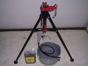 Bucket Oiler Light Oil Portable Tri stand Ridgid 300 700 141 161 Pipe Threaders