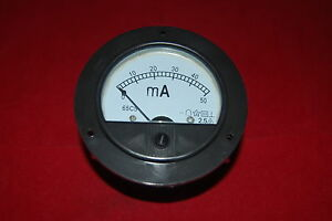 Dc 0 50ma Round Analog Ammeter Panel Amp Current Meter Dia 90mm Direct Connect