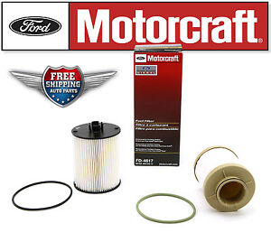 Genuine Motorcraft Fd 4617 Fuel Filter Ford F 250 F 350 F 450 Super Duty 6 4l