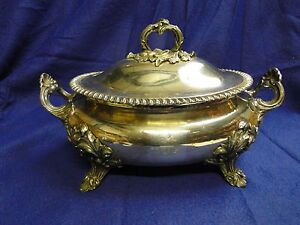 Soup Tureen C 1820 Old Sheffield Gadroon Shell Crested Borders And Handles