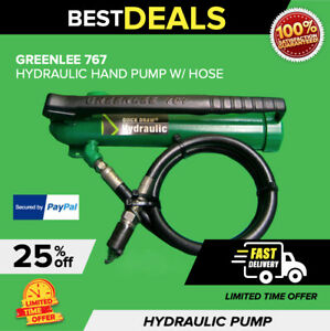 Greenlee 767 Hydraulic Hand Pump Excellent Condition Free Extras fast Shipping