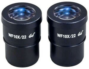 A Pair Of 30mm Wf10x 22 High Eye point Widefield Microscope Eyepieces