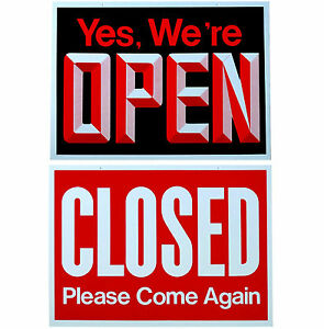 Big Open Closed Business Sign Store Window New