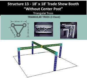 18x18 Crisscross Triangular Truss Trade Show Booth Kit No Center Post