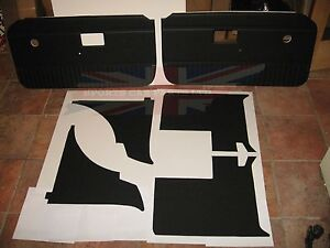New 6 Piece Interior Panel Set With Door Panels Mgb 1970 80 Black No Chrome
