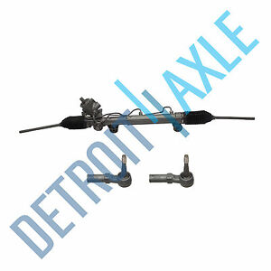 Complete Power Steering Rack And Pinion Assembly 2 New Outer Tie Rod Ends