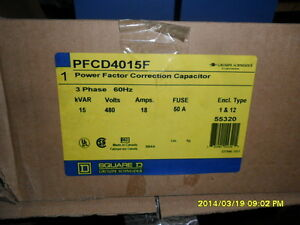 Square d Pfcd4015f Power Factor Correction Capacitor
