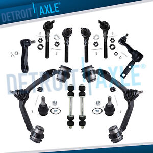 Ford F 150 F 250 Expedition 4x4 Upper Control Arm Ball Joint Tierod 12pc Kit