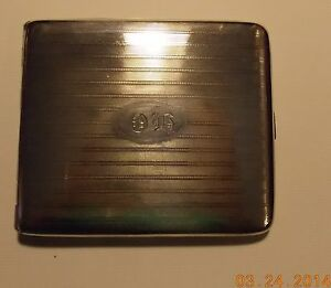 Sterling Silver Amazing Victorian Art Deco Card Case Wallet 102 1 Grams
