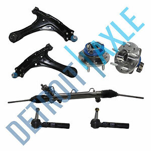 Rack And Pinion Tie Rods Control Arms W Ball Joints Wheel Hub Bearings