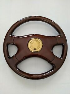 Raptor 16 Dark Walnut Wood Grain Steering Wheel Gold