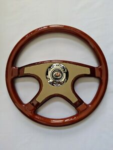 Raptor 15 Tan Front Leather Wood Grain Steering Wheel