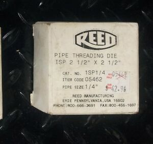 Reed Pipe Threading Die 1sp1 4 05462
