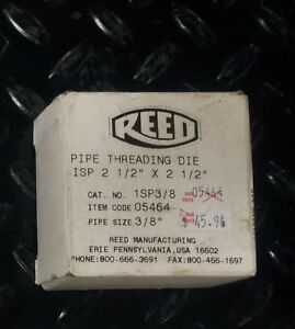 Reed Pipe Threading Die 1sp3 8 05464