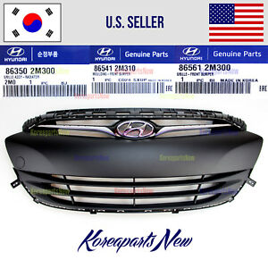 Grille Front Bumper Assembly 3 Parts Genuine Hyundai Genesis Coupe 2013 2017