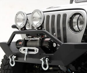 Smittybilt Xrc Front Bumper Winch Plate Fits Jeep Wrangler Tj 97 06 P n 76800