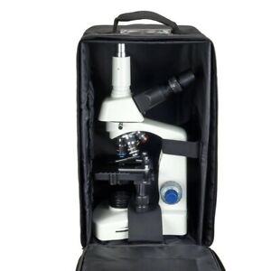 Omax 40x 2000x Trinocular Compound Siedentopf Led Microscope vinyl Carrying Case