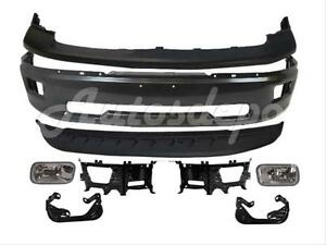For 2009 2012 Dodge Ram 1500 Front Bumper Grey Upper Air Dam Fog Light Bracket 8