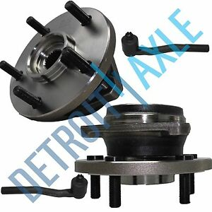 New 4pc Wheel Hub Bearing Assembly 2 Outer Tie Rod Ends For Grand Cherokee
